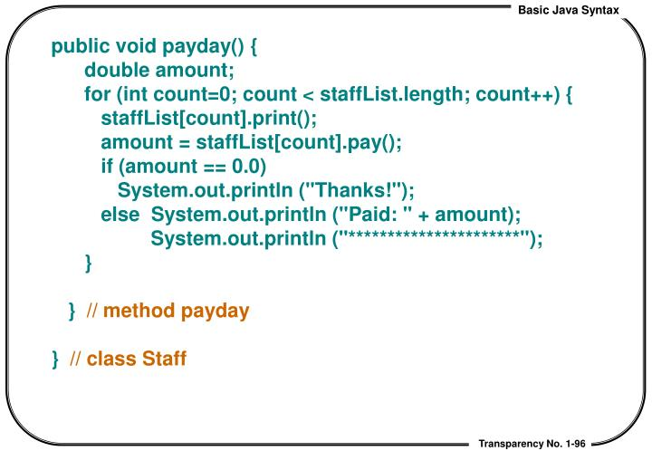 public void payday() {