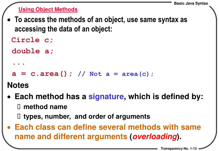 Using Object Methods