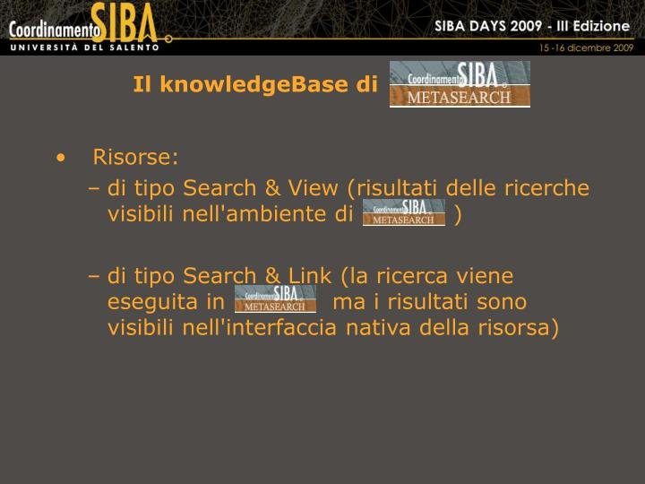Il knowledgeBase di