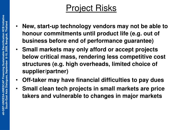 Project Risks