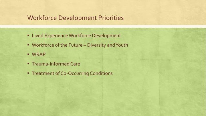 Workforce Development Priorities
