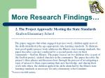 more research findings