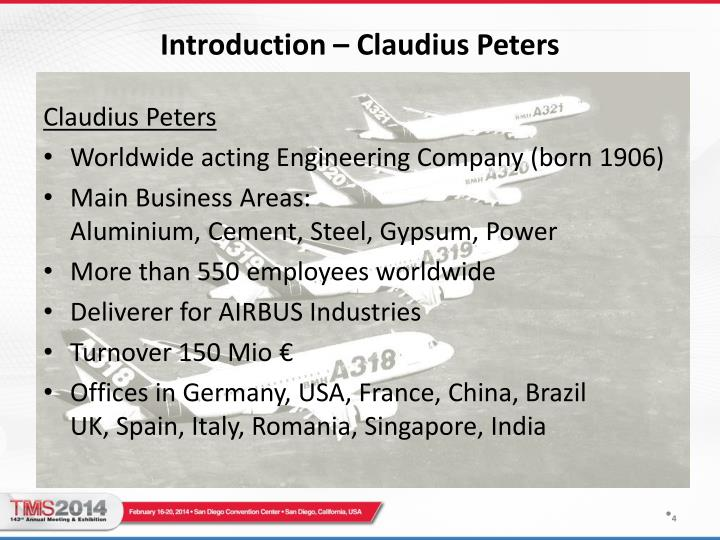 Introduction – Claudius Peters