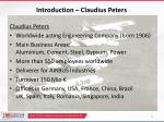 introduction claudius peters