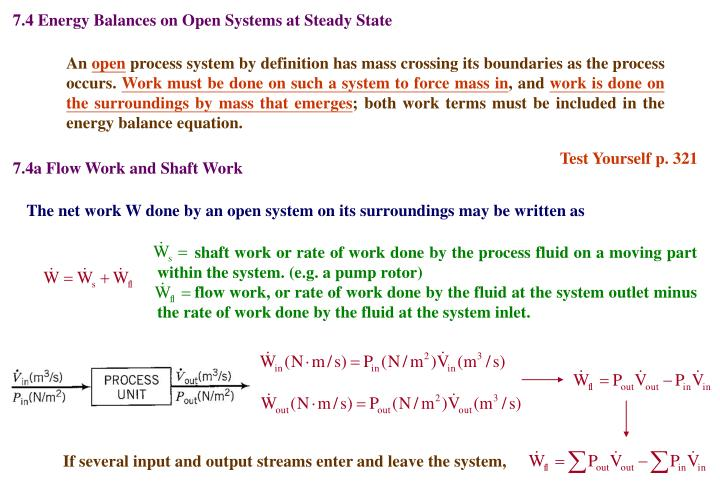7.4 Energy Balances on Open Systems at Steady State