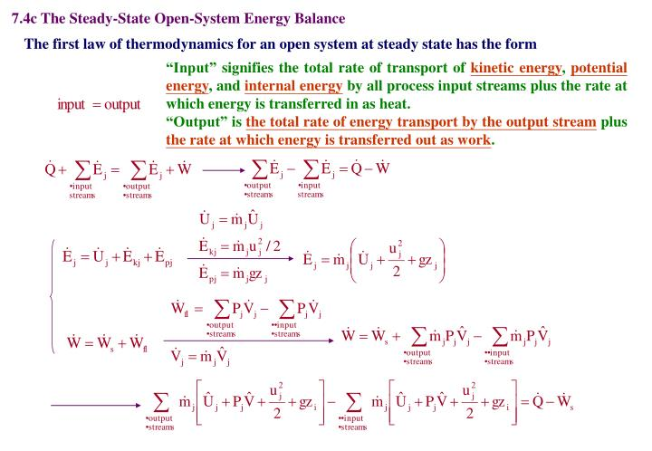 7.4c The Steady-State Open-System Energy Balance