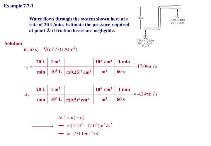 Example 7.7-1