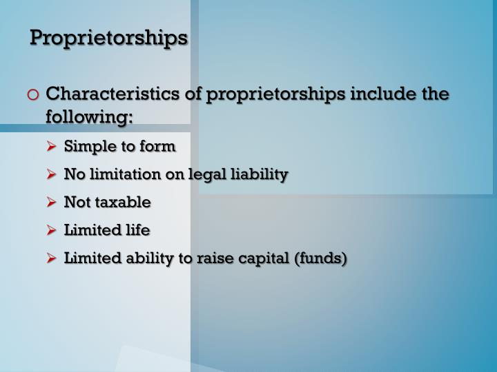 Proprietorships