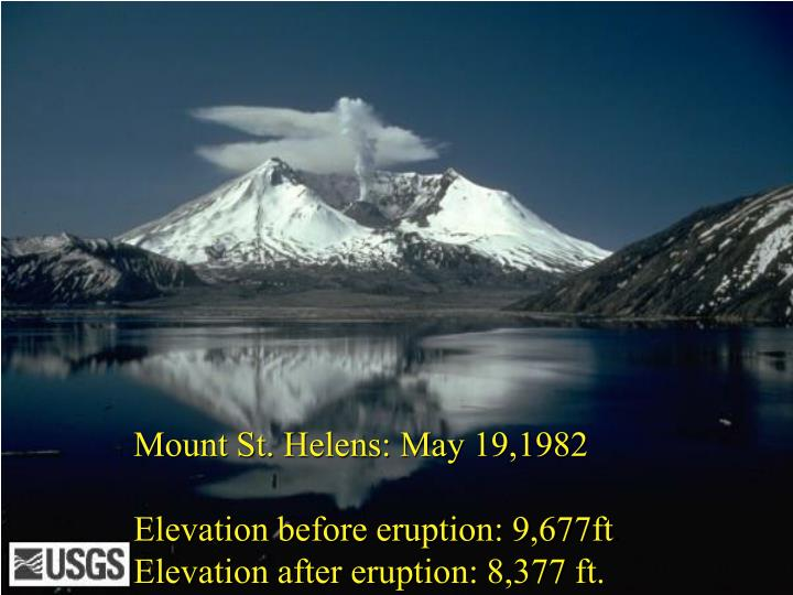 Mount St. Helens: May 19,1982