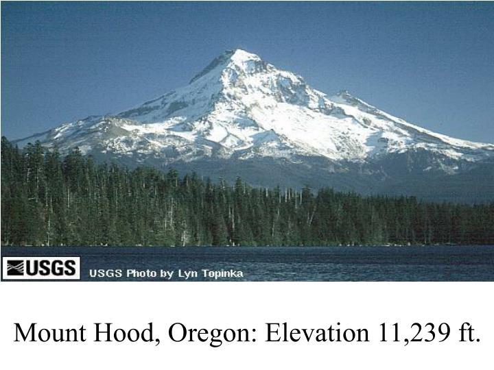 Mount Hood, Oregon: Elevation 11,239 ft.