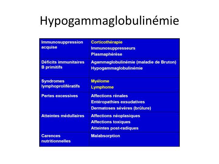 Hypogammaglobulinémie