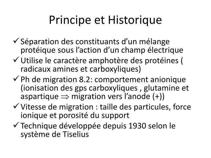 Principe et Historique