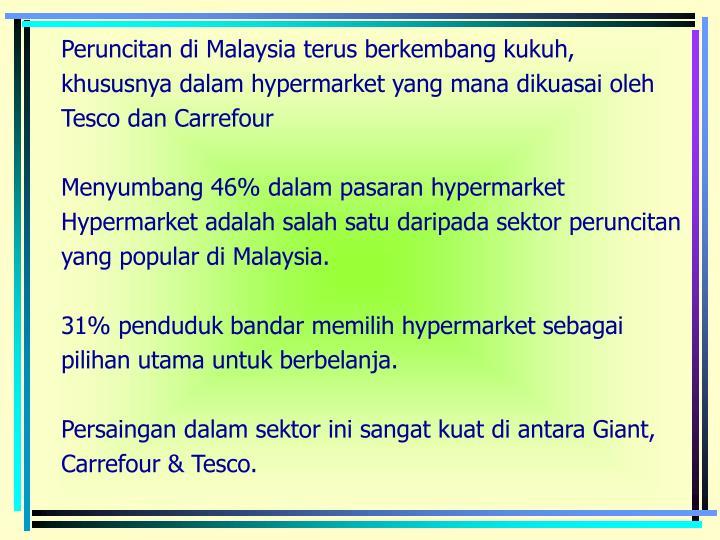 Peruncitan di Malaysia terus berkembang kukuh,