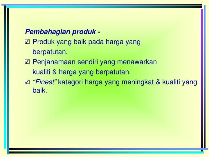 Pembahagian produk -