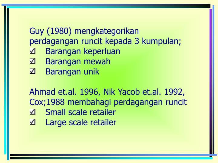 Guy (1980) mengkategorikan