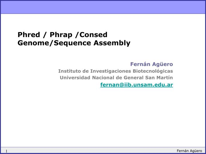 Phred phrap consed genome sequence assembly