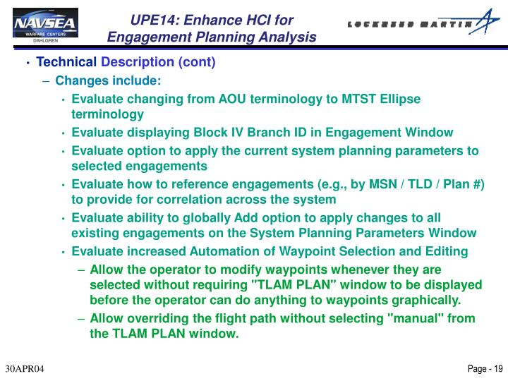 UPE14: Enhance HCI for