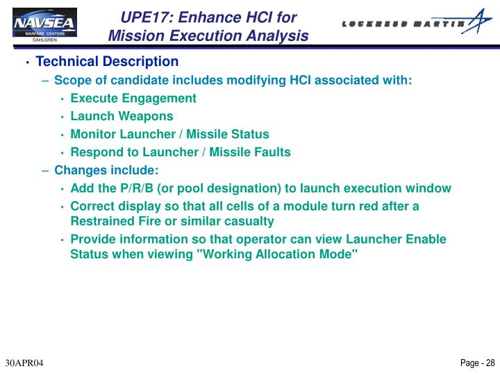 UPE17: Enhance HCI for