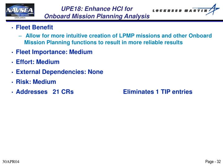 UPE18: Enhance HCI for