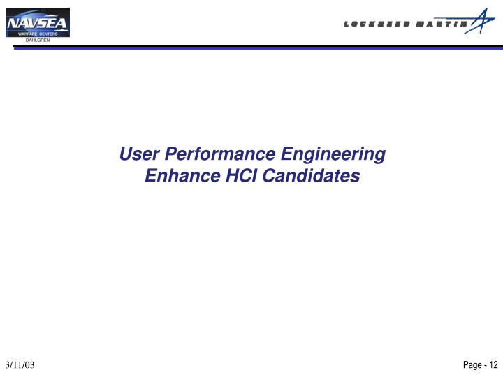 User Performance Engineering