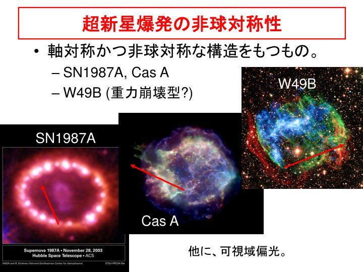超新星爆発の非球対称性