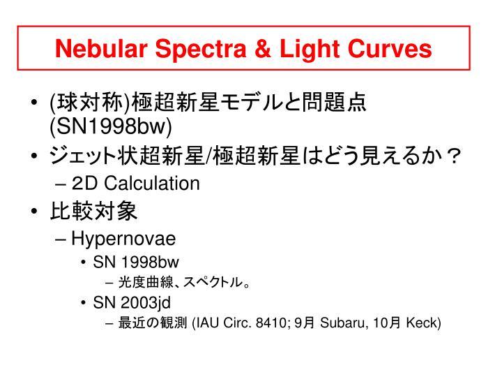 Nebular Spectra & Light Curves