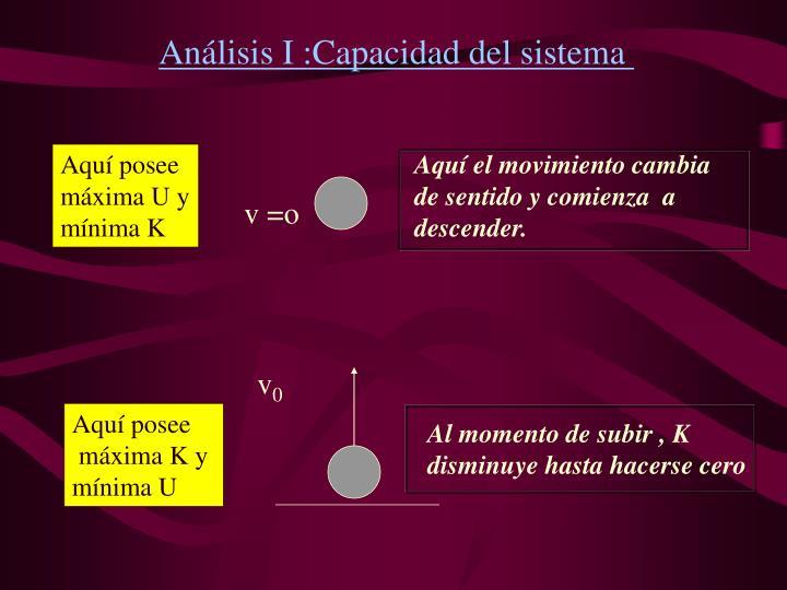 Anlisis I :Capacidad del sistema