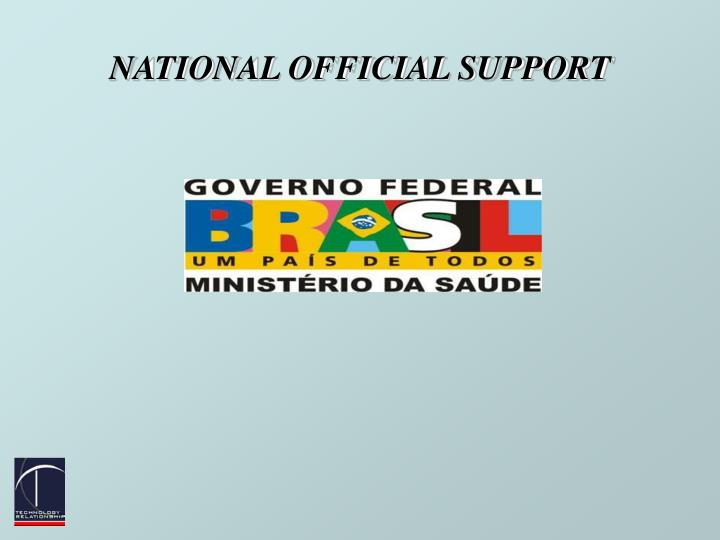 National official support