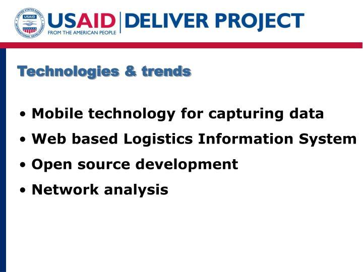 Technologies & trends