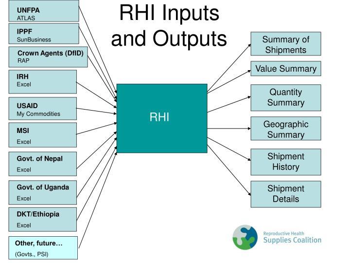 RHI Inputs
