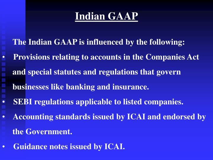 Indian GAAP