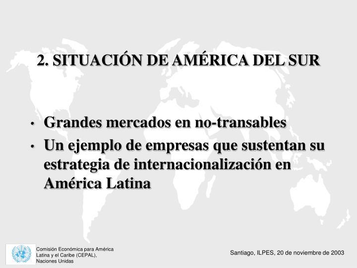 2. SITUACIÓN DE AMÉRICA DEL SUR