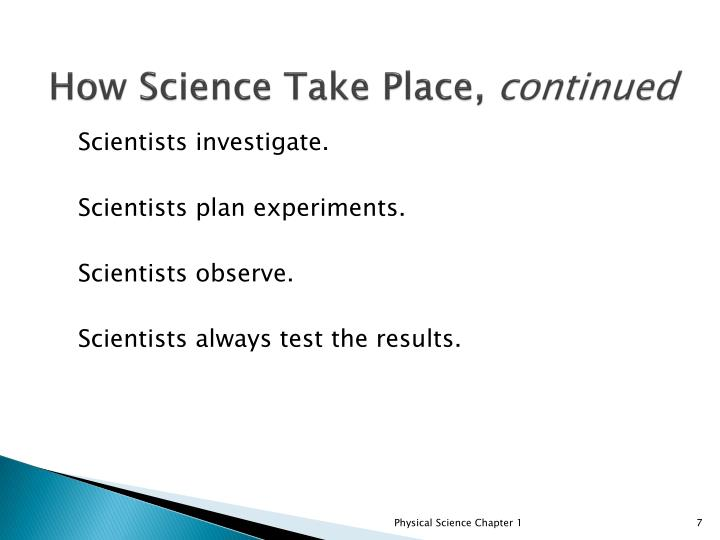 How Science Take Place,