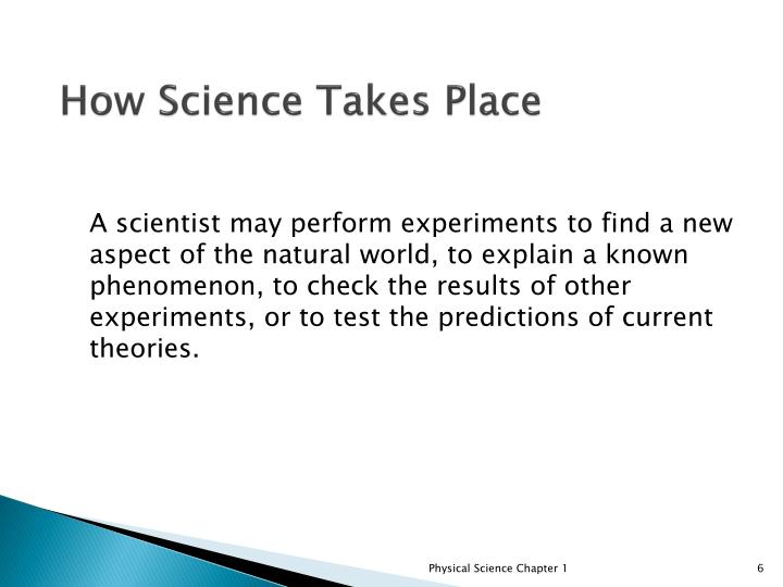 How Science Takes Place