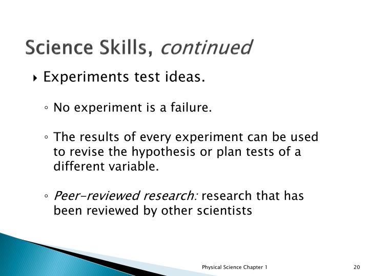 Science Skills,