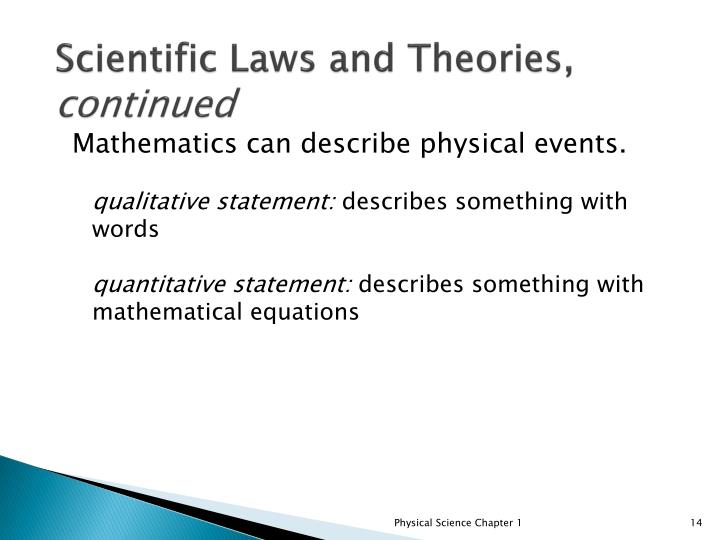 Scientific Laws and Theories,