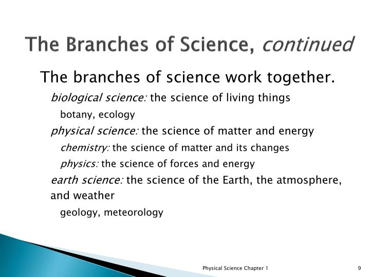 The Branches of Science,