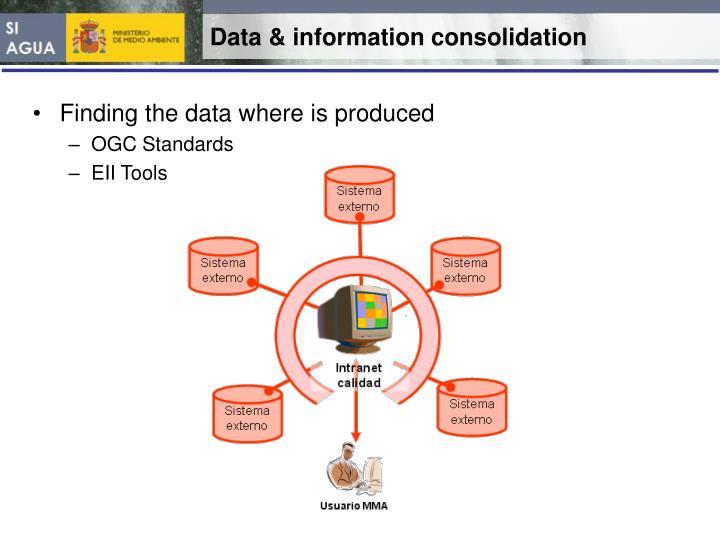 Data & information consolidation