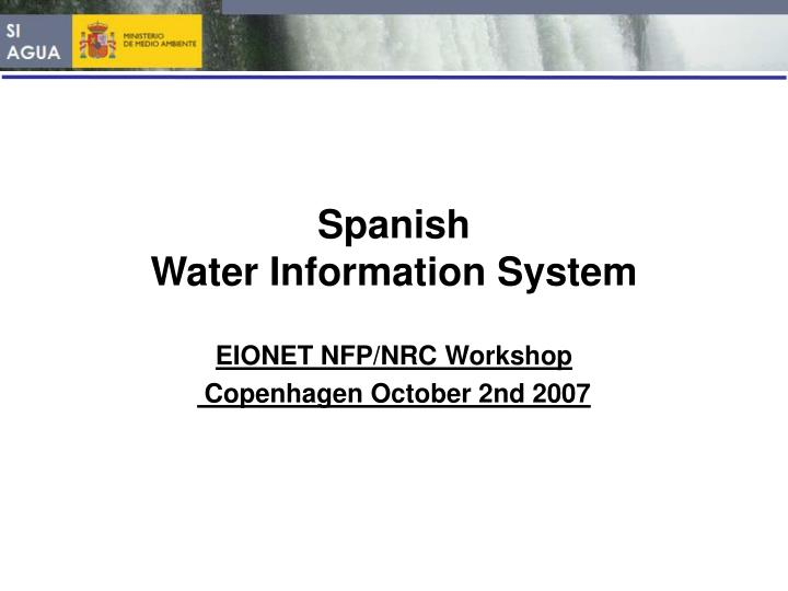 spanish water information system