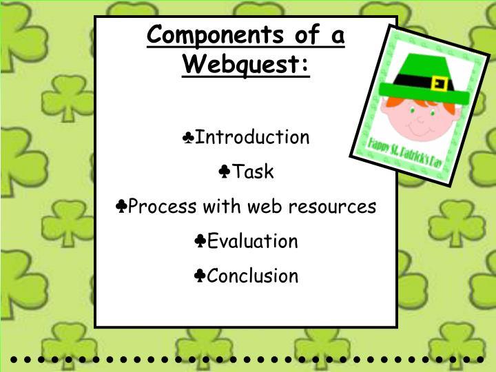 Components of a Webquest: