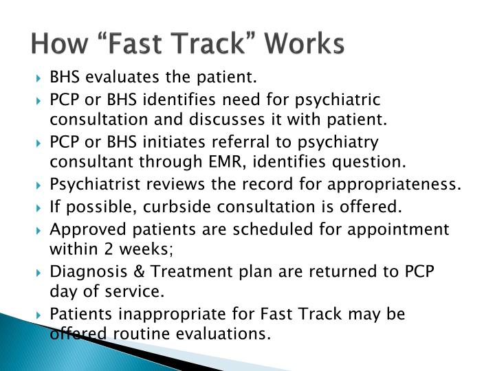 """How """"Fast Track"""" Works"""