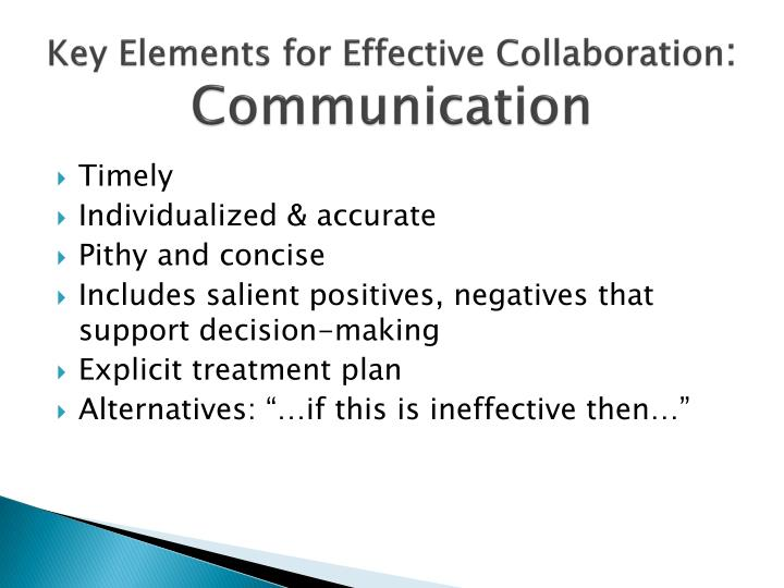 Key Elements for Effective Collaboration