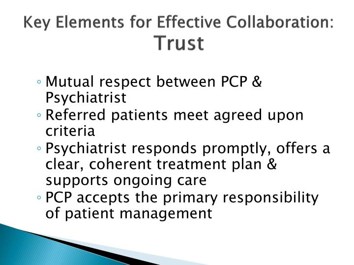 Key Elements for Effective