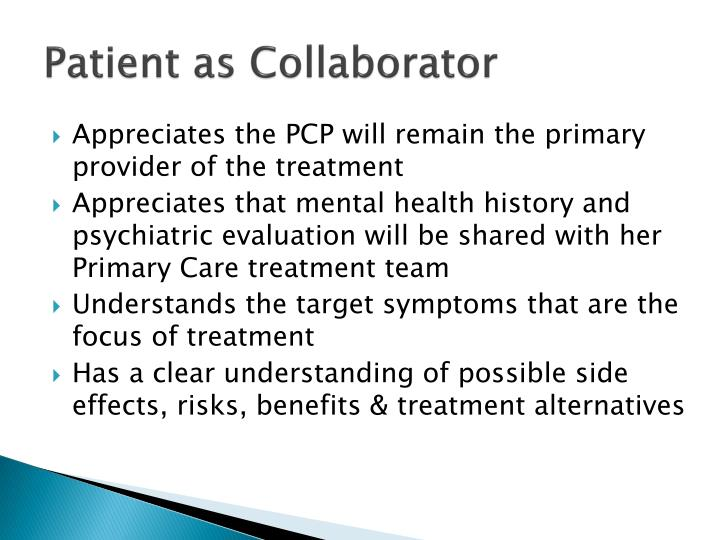 Patient as Collaborator