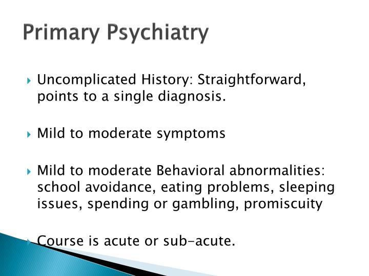 Primary Psychiatry