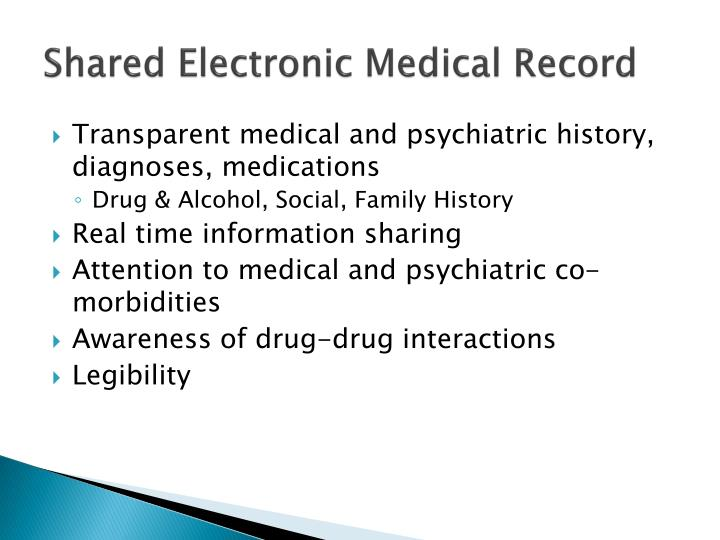 Shared Electronic Medical Record