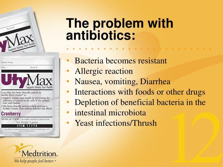 The problem with antibiotics: