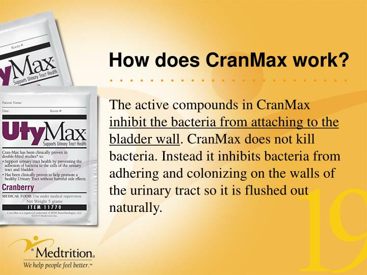 How does CranMax work?