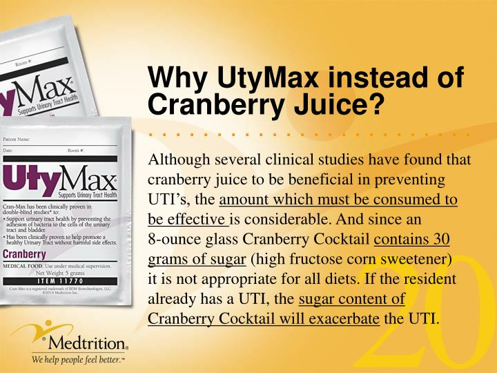 Why UtyMax instead of Cranberry Juice?