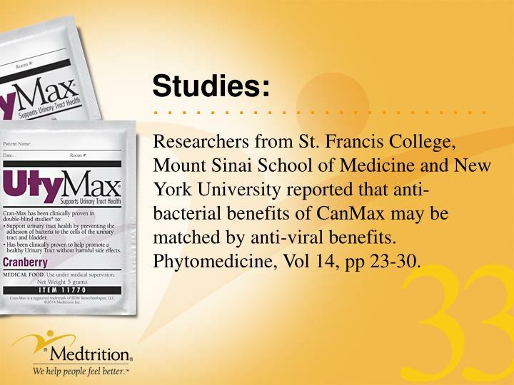 Studies: